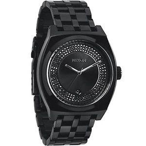 Nixon Women's 'Monopoly' All Black/Crystal watch